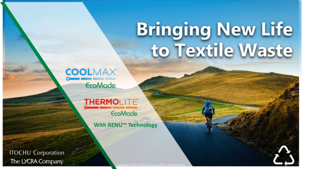 COOLMAX®/THERMOLITE® ECOMADE with RENU® Technologyの日本市場での販売開始について